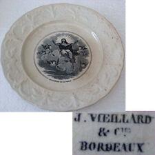 ASSIETTE J.VIEILLARD & Cie BORDEAUX APOTHEOSE DELA VIERGE
