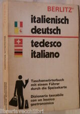 ITALIENISCH DEUTSCH TEDESCO ITALIANO Berlitz 1974 Dizionario Linguistica di e