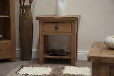 Tilson solid rustic oak furniture side end lamp sofa table