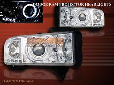 94-01 DODGE RAM PROJECTOR HEADLIGHTS HALO LED CHROME CCFL