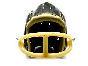 Vintage MacGregor Leather Football Helmet with Mask #H612  Stamped 6-7/8 / 7