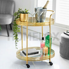 Gold Metal Shaped Mini Bar Trolley With Mirror Table Drink Table Furniture