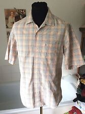 Timberland ~ all cotton summer checked s/sleeved shirt ~ M 37-39""