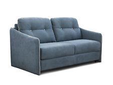 Schlafsofa mit integrierter Matratze BEEPER Sofa Couch Schlafcouch Ice Blau Weiß