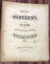Antique 1873 Henri Herz French Sheet Music 8th Huitieme Concerto Pour Le Piano