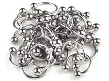 20pc Lot Wholesale Stainless Steel Horseshoe Lip Labret Ear Rings Body Jewelry N