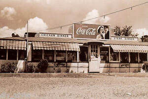 Coca-Cola postcard roadside diner unused mint chicken steak dinner milk shakes