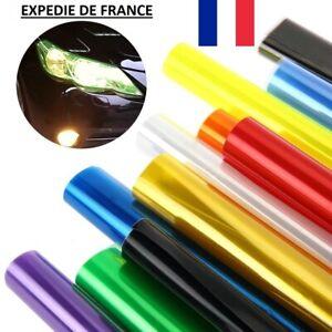 Film teinté 30x60cm Phare Feux arrière Antibrouillard BM Voiture 10 couleurs