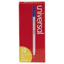 Universal Economy Ballpoint Stick Oil-Based Pen, Blue Ink, Fine, Dozen 27421