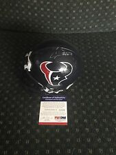 Andre Johnson Texans Autographed Mini Helmet PSA/DNA COA.
