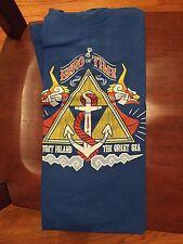 Teefury Men's XL Blue T-Shirt Hero of Time Legend of Zelda Outset Island