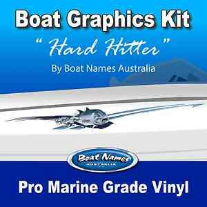 Boat Graphics Kit - Hard Hitter