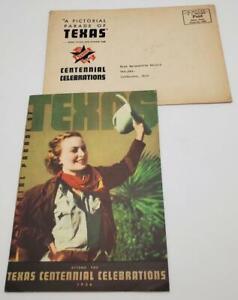 1936 Texas Centennial Celebrations Pictorial Booklet  Texaco Map Paper Ephemera