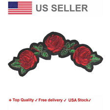 Roses Iron On / Sew On Embroidery Patches Floral motif Garden rose flower bloom