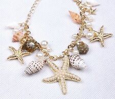 Fashion Vintage Jewelry  Women Charm Pearl Gold Chain Wrap Cuff Bangle Bracelet