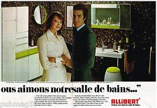 Publicité Advertising 1973 (2 pages) Les meubles de salle de bain Allibert