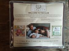 LuxClub 6 Pcs Bamboo Sheets Full Size Fitted Sheet Flat Sheet Pillowcases