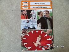 CARTE FICHE CINEMA 2011 POUPOUPIDOU Jean Paul Rouve Sophie Quinton