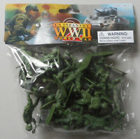 1:32 WWII US Infantry Plastic Toy Soldier Figures 24 In Bag