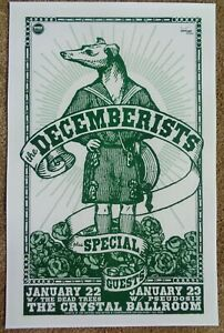 THE DECEMBERISTS 2008 Gig POSTER Portland Oregon Concert