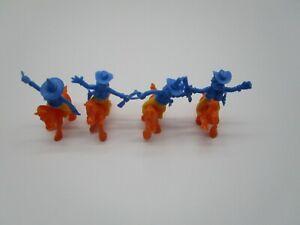 MS:  Satz   FUNNY COWBOYS  88     blau mit Pferden in ORANGE   (STEU41.14)