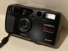 Yashica T4 Super D 35mm Point & Shoot Film Camera Black Tested Weatherproof