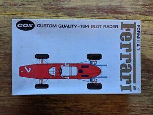 VINTAGE 1960's COX  1/24 FERRARI F-1 SLOT CAR W/ ORIGINAL BOX