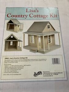 """1"""" scale Miniature. """" Lisa's Country Cottage  Kit & component set Houseworks NIB"""