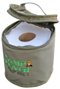 Camp Cover Toilet Roll Holder - 13 x 13 cm - Khaki Ripstop - CCK004-B