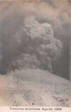VESUVIO ERUZIONE ITALY APRILE 1906 PHOTO POSTCARD