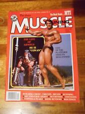 "MUSCLE TRAINING bodybuilding magazine ARNOLD SCHWARZENEGGER ""Conan"" 7-81"