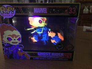 funko Shop pop vinyl Ghost Rider Popcultcha Exclusive Pop Ride Blacklight 33