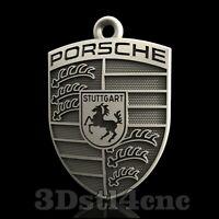 3D Model STL CNC Router Artcam Aspire Porsche Emblem Pendant Cut3D Vcarve