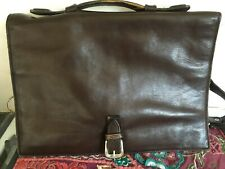 Beautiful Hidesign Soft Brown Leather Briefcase Laptop Bag with handle & strap