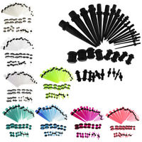 36pcs 36pcs Acrylic Tapers Plugs Kits O-Rings Ear Gauges Stretching 14G-00G