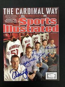 Adam Wainwright Signed Sports Illustrated 5/27/13 No Label Miller + 3 Auto JSA
