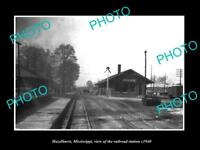 OLD LARGE HISTORIC PHOTO OF HAZELHURST MISSISSIPPI RAILROAD DEPOT STATION c1940