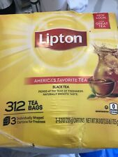 LIPTON BLACK TEA Bags For A Naturally Smooth Taste Black 312 Count