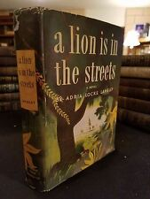 """A Lion Is In The Streets"" Adria Locke Langley Author-Signed First Ed 1945 HBDJ"