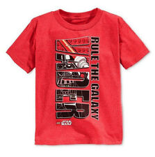 Star Wars Red Boys' LEGO Darth Vader Rule The Galaxy T-Shirt Top, Size 5
