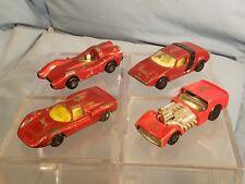 Lot of 4 Vtg 1970s Matchbox Cars : Porsche, Dragster, Spyder, & Turbo Fury