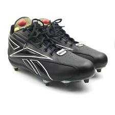 Reebok Pump NFL Equipment Mens Black Silver Football Cleats Raiders Color Sz 15
