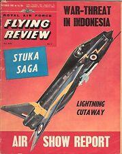 RAF FLYING REVIEW OCT 61 DOWNLOAD: FARNBOROUGH/ 74 SQN LIGHTNINGS/ STUKA STORY