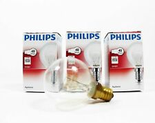 3 PHILIPS Branded Oven 40w Lamp SES E14 Small Screw 300° Cooker Light Bulb A8297