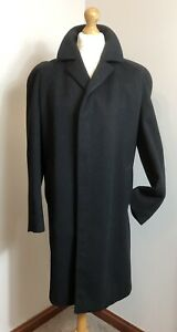 DUNN & CO VINTAGE WEST OF ENGLAND CLOTH WOOL HEAVY WINTER CROMBIE COAT SIZE L