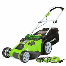 GREENWORKS G-Max 40V Twin Force 20-Inch Cordless Lawn Mower... NEW!