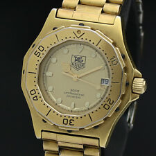 TAG HEUER Watch 3000 934.413   Quartz 18K Gold Plated Date   T1414