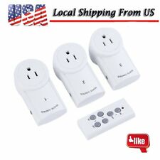 3Pack Wireless Remote Control AC Power Plug Switch Outlet Socket All New US Ship