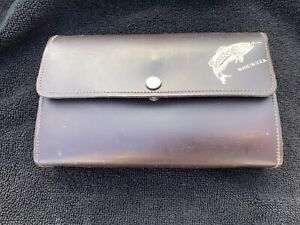 """Common Sense leather 7"""" leaf fly wallet with Extras Very Nice"""