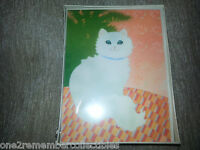 HALLMARK Kitty Cat 8 BLANK NOTE CARDS Vintage Set STATIONARY & ENVELOPES New